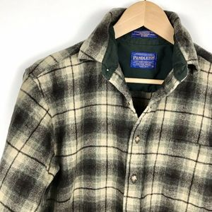 Pendleton Wool Button Down Plaid Flannel Shirt